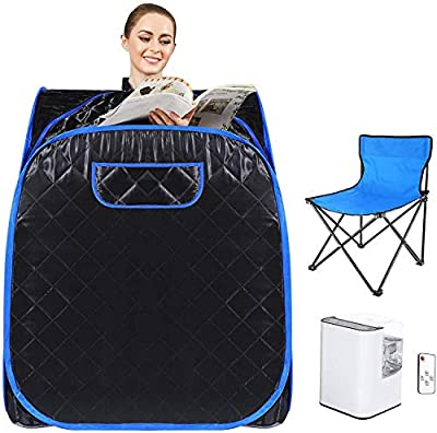 Angotrade Portable Sauna Spa for Home with Chair Remote, Personal Steam Sauna Spa for Weight Loss, Detox and Relax Steam Sauna
