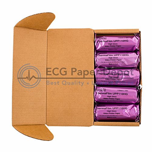 Ultrasound Film/Media UPP-110HG Sony Compatible High Gloss Paper by ECG Paper Depot, 10 Rolls
