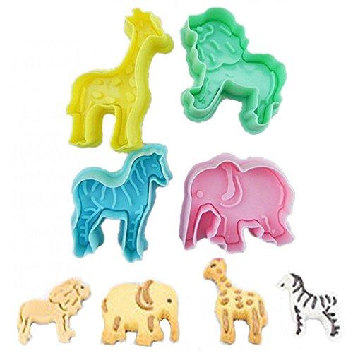 Tiere Elefant, Löwe, Giraffe, Zebra Ausstecher Set