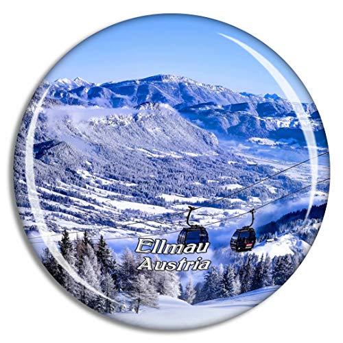 Weekino Ellmau Tirol Österreich Kühlschrankmagnet 3D Kristallglas Touristische Stadtreise Souvenir Collection Geschenk Starker Kühlschrank Aufkleber
