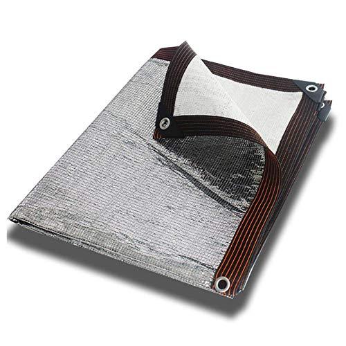 Red Aislamiento térmico Papel Aluminio para toldo,toldo,toldo,Techo,Techo,Patio,Cubierta Plantas al Aire Libre,cifrado Grueso(tamaño:3x8m)