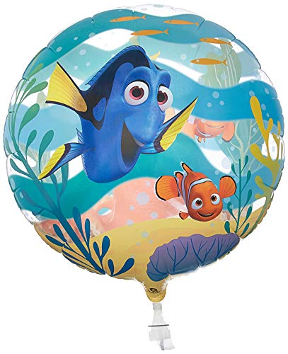 Qualatex 44146 Nemo Single Bubble Disney Pixar Finding Dory Latex ballon, 22-inch