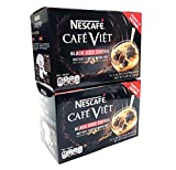 Nescafe Cafe Viet Black Iced Coffee Instant Coffee 15 Packets X 2 Packs