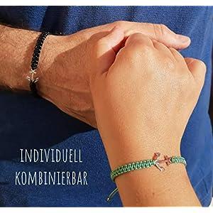 925 Sterling Silber, Partner Armband mit Anker, Partnerarmband maritim, handmade, individuell kombinierbar
