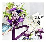 Fresca Titular Amarilla Flores de Boda Ramos Artificiales de Rose Ramo de Novia de Seda de la Tabla púrpura de la Flor de la Novia Color (Color : 3PCs Set Purple)