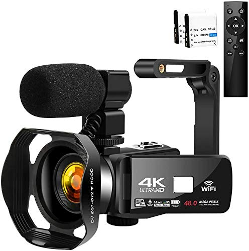 "Camcorder Videokamera 4K HD 48MP Camcorder 3.0\""HD Touchscreen Videokamera für YouTube Digitalkamera Nachtsicht Camcorder Full HD mit Mikrofon & WiFi"