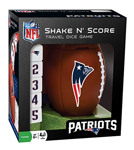 MasterPieces NFL New England Patriots Shake N' Score Travel Dice Game