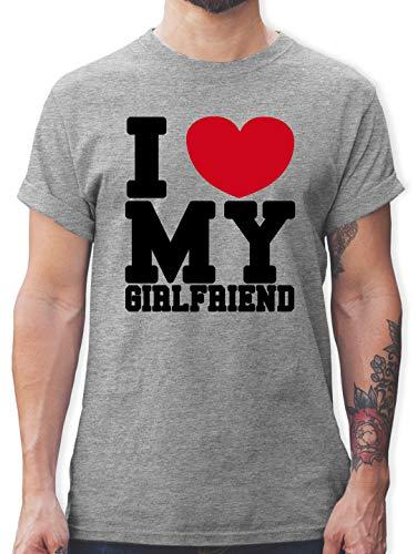 Valentinstag - I Love My Girlfriend - M - Grau meliert - i Have a Girlfriend - L190 - Tshirt Herren und Männer T-Shirts