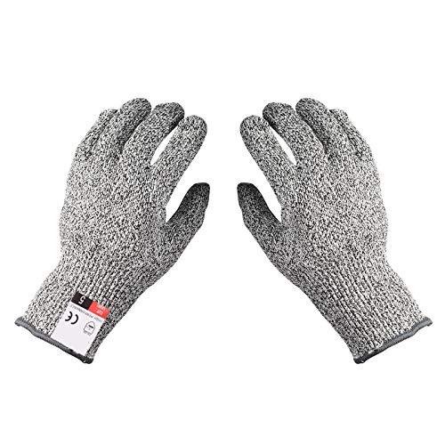 DOSMUNG Schnittschutzhandschuhe, [1 Paar] Schnittsichere Handschuhe mit High Performance Level 5 Schutz für Holzschnitzen und Fleischschneiden, Arbeitshandschuhe für Gartenbau/Baustelle/Küche(XS)
