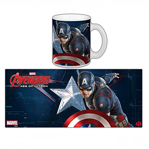 Semic Distribution - Smug070 - Ameublement Et Décoration - Mug Avengers 2 : Age of Ultron - Captain America