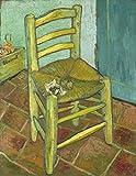 AMANUO Van Gogh Impresiones Pinturas Famosas sobre Lienzo Naturaleza Muerta 50X65 cm Cuadros Enrollada - Silla De Emty 1888