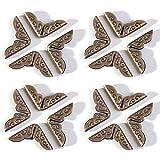 Lezed Protecteurs En Métal Bronze Vintage Bronze Protector Pour Coins De Livre Album Trousse Antique Style Décoratifs Triangle Boîte Protecteurs Vintage Protector 30 pièces