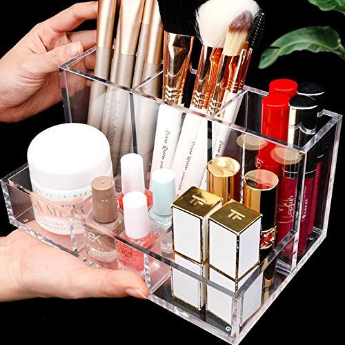 Acryl Make-up Schöne Organizer Box CC Creme Aufbewahrungsbox Klar Kosmetische Make-up Pinselhalter Lippenstift Parfüm Pulver Display Stand