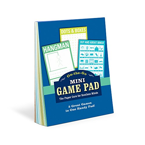 Knock Knock Mini On-The-Go Game Pad 1, Small Travel Activity Notepad, 4 x 6-inches