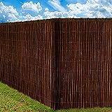 BAKAJI Copertura Frangivista Frangivento per Ringhiera Protezione Balcone Divisorio in Stecche di Legno Colore Salice (100 x 300 cm)