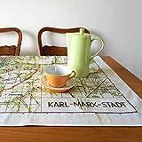 Karl- Marx- Stadt Tischdecke, Picknickdecke, Tischwäsche, Digitaldruck, Stadtplan, DDR 1960er Jahre