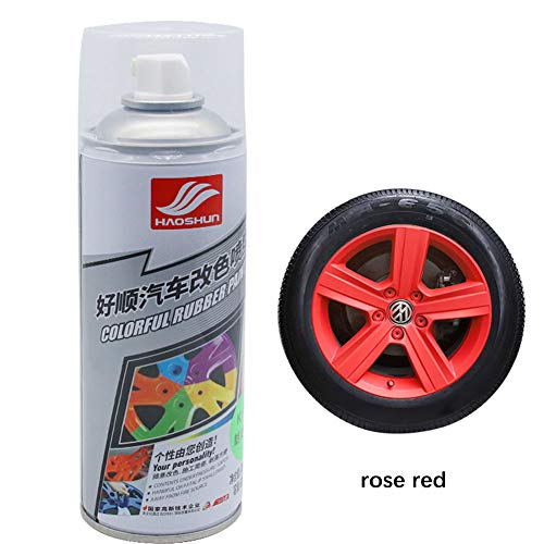 DishyKooker Auto Wheel Spray Film Autoreifen Farbwechsel Radnabenlack Rose Rot -für Kindergeschenk