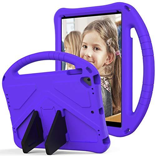 SZCINSEN Funda para iPad Air 2, iPad Pro 9.7, para niños Eva a prueba de golpes, ligera, a prueba de caídas, con asa grande, funda protectora resistente para iPad 6 (color purper)