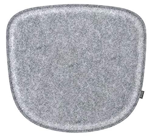 Feltd.Eco Filz Kissen geeignet für HAY - About a Stool/AAS 32-38 - 30 Farben - optional inkl. Antirutsch und gepolstert! (Graumeliert)