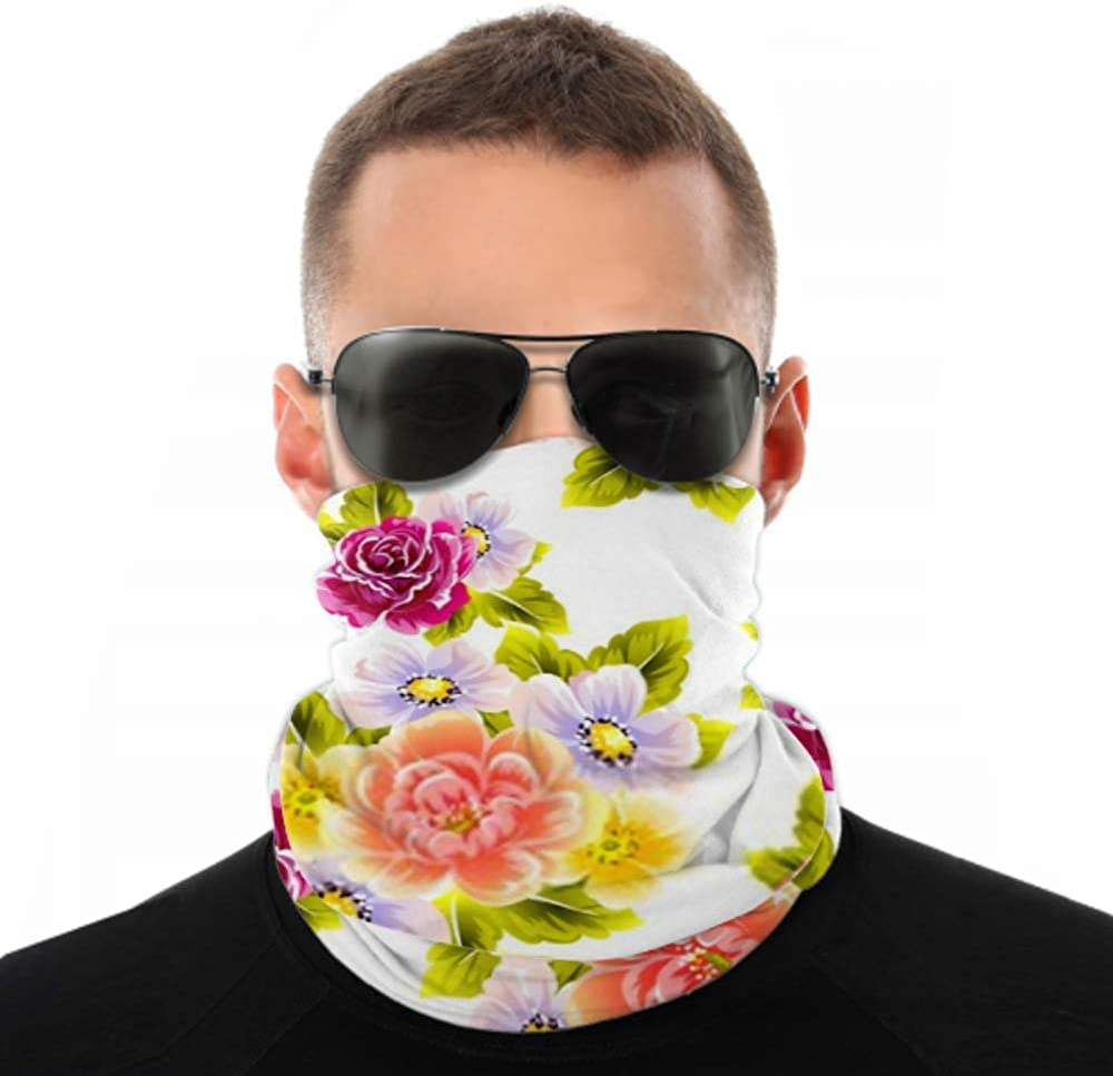 Headbands For Men Women Neck Gaiter, Face Mask, Headband, Scarf Abstract Elegance Seamless Pattern Floral Background Turban Multi Scarf Double Sided Print Turban Headband For Sport Outdoor
