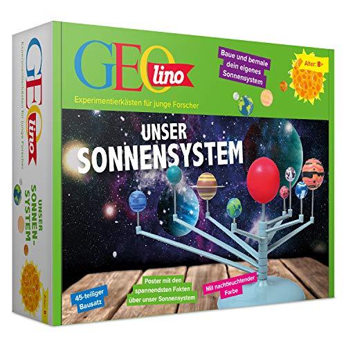 FRANZIS GEOlino Unser Sonnensystem | Leuchtet im Dunkeln | 45 teiliger Bausatz | Ab 8 Jahren