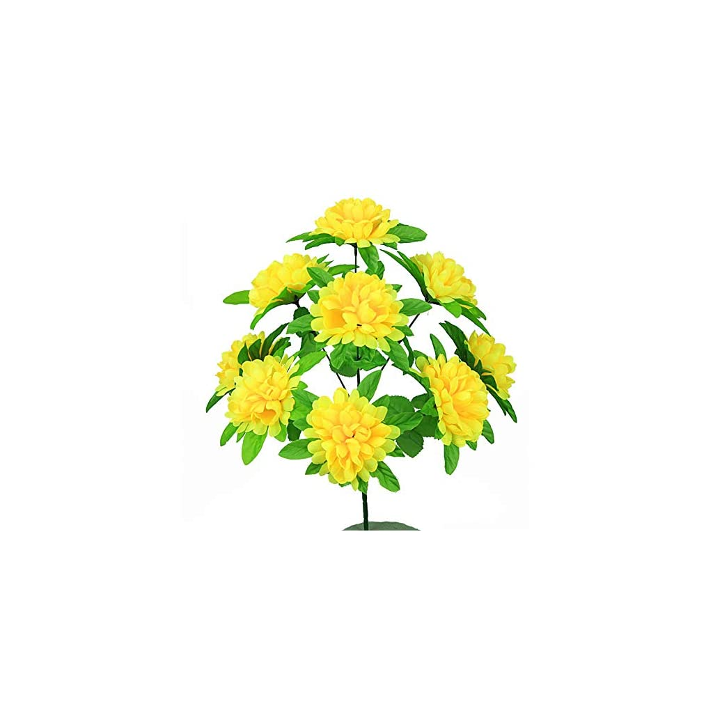 Artificial Decorative Flowers 9 spires of Chrysanthemums, simulation, chrysanthemums, flowers, graves, tombs, fake flowers, plastic flowers Flower Products include:Decorative Artificial Flowers