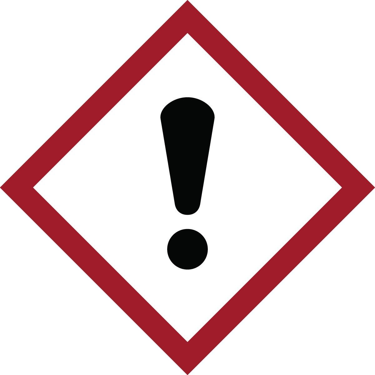 Brady 118857 Vinyl GHS Acute Toxic Picto Labels , Black/Red On W