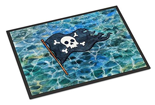Caroline Tesoros del Pirata Bandera Felpudo, 18h x 27W, Multicolor