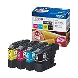 ブラザー インクジェットカートリッジ LC110-4PK 1パック(4色)