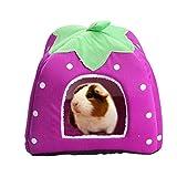 Abri et panier pour petit animal de compagnie - Lapin, cochon d'Inde, hamster, hérisson, chinchilla, etc.