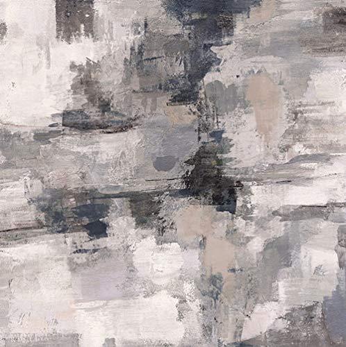 HD print amarillo gris pintura al óleo abstracta sobre lienzo arte escandinavo póster imagen de la pared para sala de estar sofá decoración del hogar 30x30cm sin marco PC1365