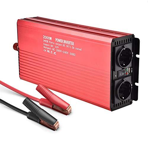2000W Inversor electrico Convertidor inversor de onda sinusoidal pura Convertidor 12 V 220...