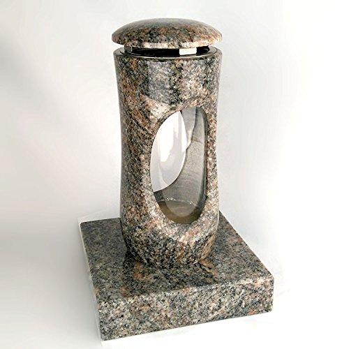 designgrab Design Set Small Tombe Lampe avec socle en granit Himalaya, pierre tombale