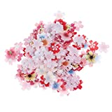 jojofuny 440 Piezas de Pastel Comestible Decoración de Flores Sakura en Forma de Papel de Arroz Glutinoso Pastel Caramelo Chocolate Cupcake Decoración para Fiesta de Boda Graduación Fiesta