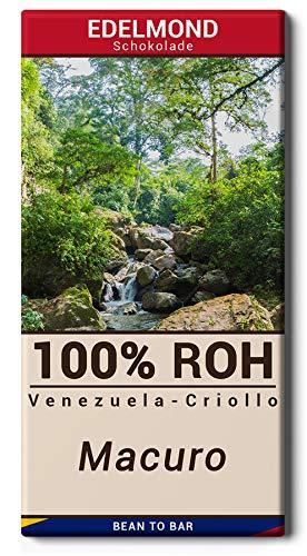Edelmond 100% ungeröstete Criollo Macuro - Rohe-Schokolade - Single Origin Kakaobohnen aus Venezuela - sehr bitter - 73g