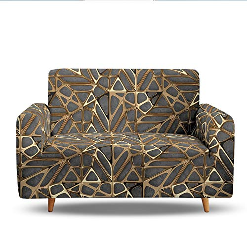 3D Digital Printing Sofa Slipcover,Sofa Cover Stretch Armless Anti-Slip Elastic Full Folding Couch Sofa Shield Fits Folding Sofa Bed,Easy To Install,Fit 1/2/3/4 Seat 2 Seater