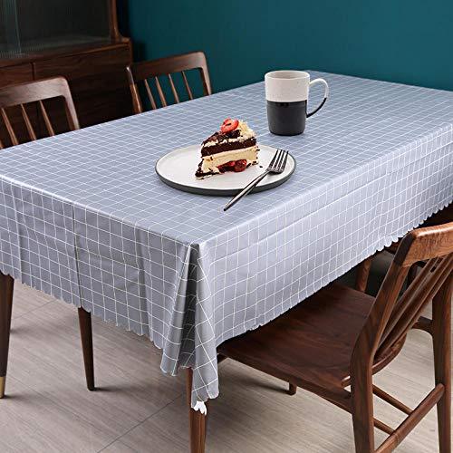 Creek Ywh tafelkleden voor terrasplanken, tafelkleden voor feesttafelkleden, stof, rood net, rechthoekig, tafelkleed, wit, middelgroot, 110 x 160 cm, grijs