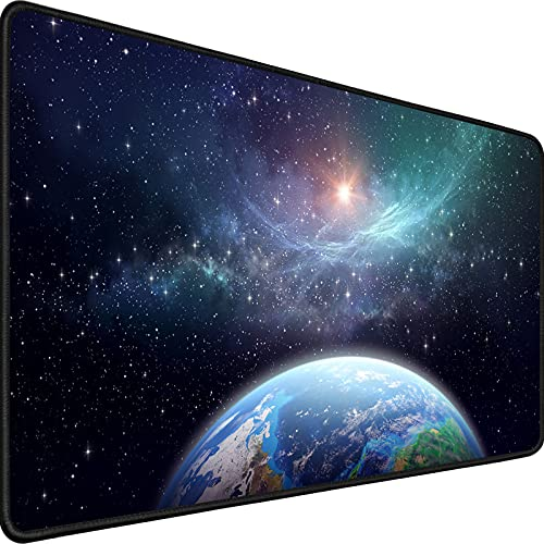 Gaming Mouse Pad,Upgrade Durable 31.5'x15.7'x0.12' Larger Extended Gaming Mouse Pad with Stitched Edges,Waterproof Non-Slip Base Long XXL Large Gaming Mouse Pad for Home Office Gaming Work, Star