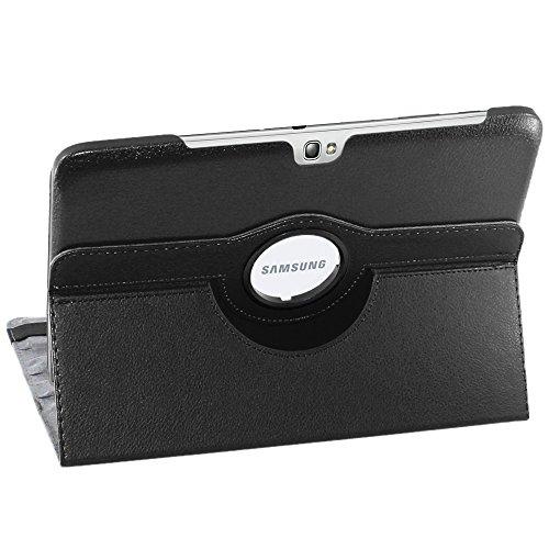 ebestStar - kompatibel mit Samsung Galaxy Note 10.1 Hülle N8000, N8010 Rotierend Schutzhülle Etui, Schutz Hülle Ständer, Rotating Hülle Cover Stand, Schwarz [Tab: 262 x 180 x 8.9mm, 10.1'']