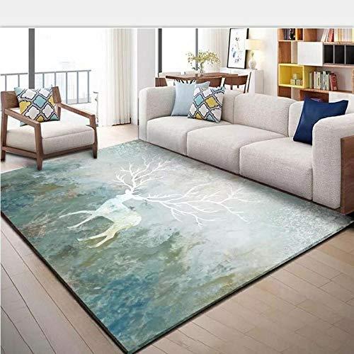 HXJHWB Area Rugs Living Room Bedroom - Creative animal pattern indoor short pile carpet living room children crawling non-slip-40CMx60CM