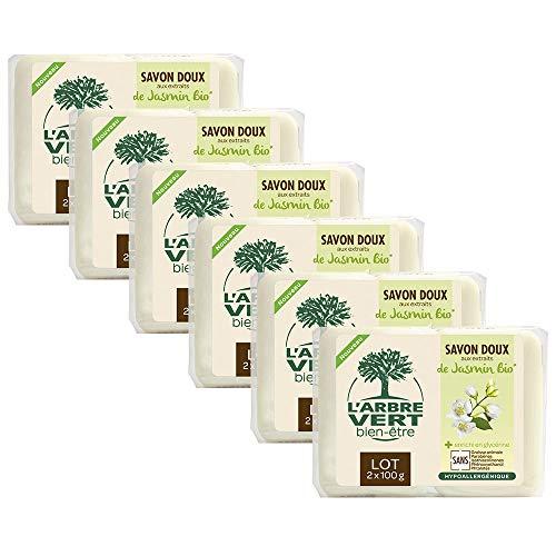 El árbol verde jabón sólido jazmín 2x 100G–Juego de 6