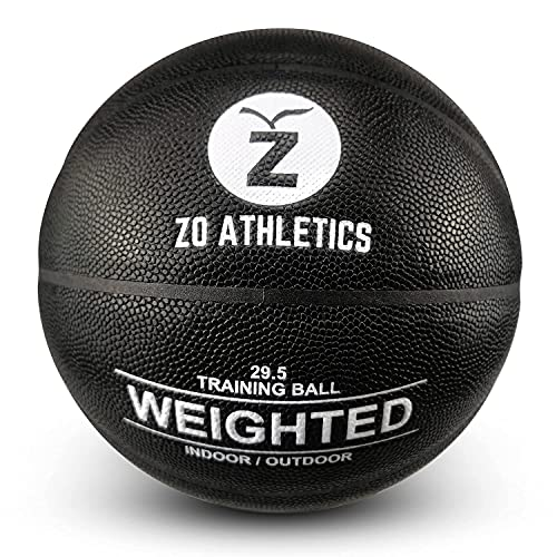 ZO ATHLETICS Weighted Basketball with Workout on The Heavy Basketball for Training and Dribbling Drills