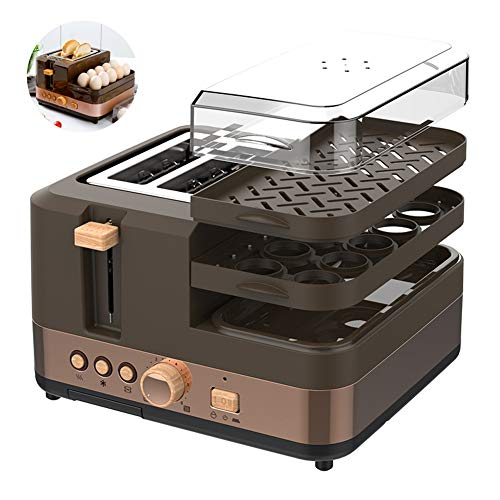 Brood Machine, 6-Speed ​​Temperature Control Huis 4-in-1Breakfast Machine/eierkoker/Volautomatisch Ontbijt Broodrooster Tosti Machine