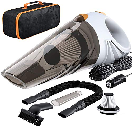 Crownish Handheld car and Home use Powerful Portable & High Power Vacuum Cleaner for Home Wet & Dry Vacuum Cleaner Multipurpose Vaccum Cleaner for Office Vacuum Cleaner (Car Vacuum-2001)
