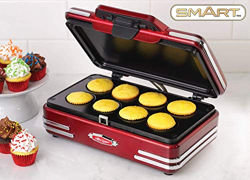 Smart Retro Cupcake Maker Bundle con jarra medidora gratis – Mini máquina de cupcakes – Fantástica máquina para...