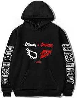 2020 Jaden hossler Hooded Sweatshirt Men/Women Angels and Demons Wing Print Hoodies Clothes