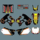 para Suzuki rm125 rm250 RM 125 250 1996 1997 1998 Equipo de Motocicletas Fondo gráfico calcomanía Pegatinas Kit Pegatinas de Motocross (Color : As The Picture)