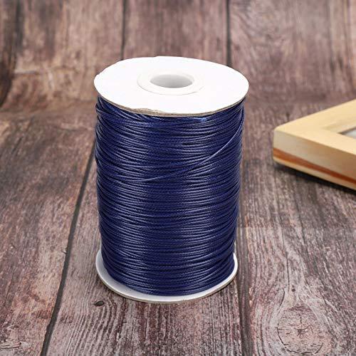 Cordón de algodón encerado de 6 colores, hilo de coser, para hacer joyas, pulseras, bolsos de costura, zapatos, ropa, collar(26#Navy blue)
