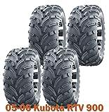 25x10-12 Complete Set WANDA Lit Mud ATV Tires fit 05-06 Kubota RTV 900