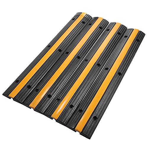 Tecmaqui Pasacables de Suelo para Proteger las Cables Protector de PVC y Caucho para Cable de Suelo (4x1vía)